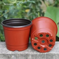 200Pcs Plastic Flower Pots Planters Double Color Garden Plant Nursery Pots Container For Growing Herbs Smaller