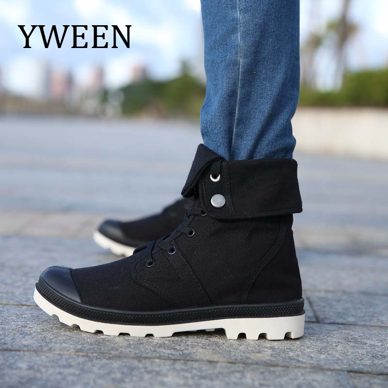YWEEN Spring Autumn Shoes Men Canvas