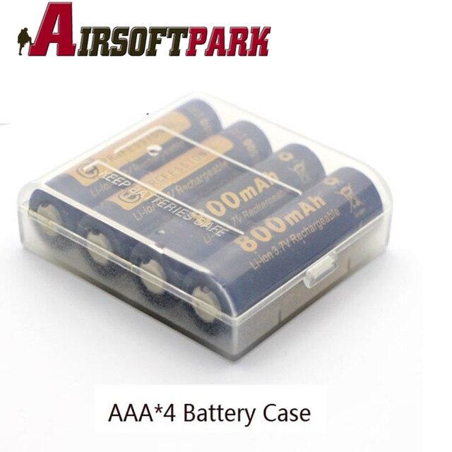 2pcs Lot Waterproof Aa Battery Storage Box Hard Plastic 4 Ss Aaa Case Cover