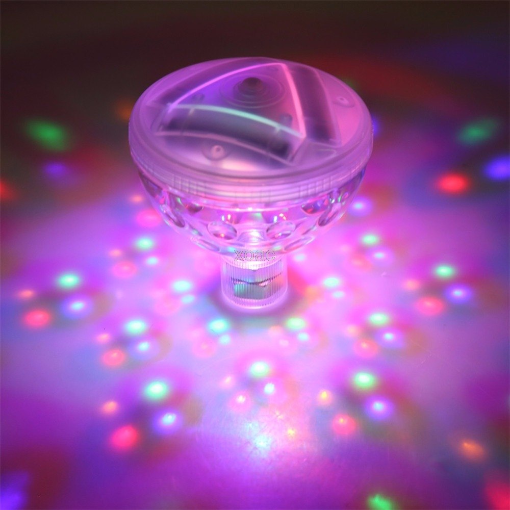 Underwater Floating Light Disco Water Lamps Colors Changing Waterproof 4LED Glow Show Swimming Pool Spa Lamp Garden Xmas Party