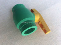 Free Shipping Quality Enviromental Friendly PPR Ball Valve In Size DN32 With Yellow Handle For Irrigation