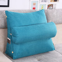 Bed Couch Backrest Cushion Washable Cotton Linen Sofa Cushions Sequin Living Room Pillows Chair Pad Sitting Pillow 60KD001