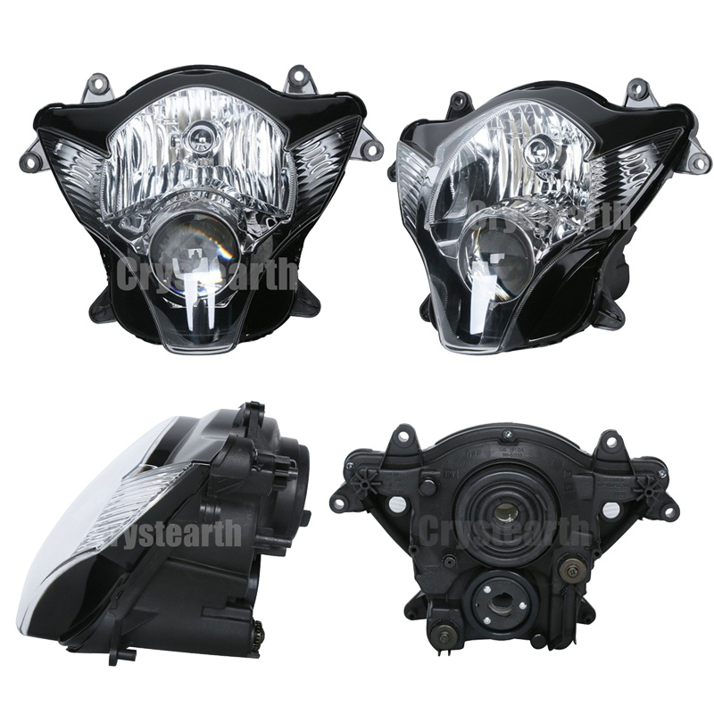 For Suzuki GSX-R GSXR 600 750 2006-2007 K6 K7 GSXR600 GSXR750 06 07 Motorcycle Clear Lens Front Headlight Headlamp Assembly Kit front upper fairing cowling headlight headlamp stay bracket holder for 2004 2005 suzuki gsxr600 gsxr750 gsxr gsx r 600 750 k4 k5
