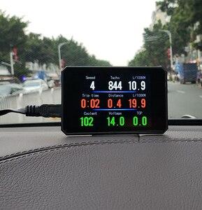 Image 3 - P16 חדש רכב display אבחון כלי T816 OBD2 GPS 48 פונקציות נתונים דיגיטלי מטר drving מחשב תקלה אבטחת אזעקה