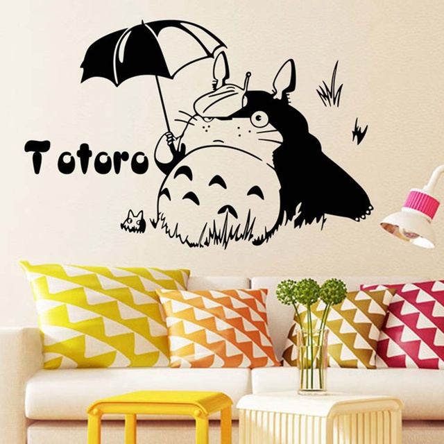 Removable Wall Stickers Totoro Home Decoration Posters Wall Decals ...