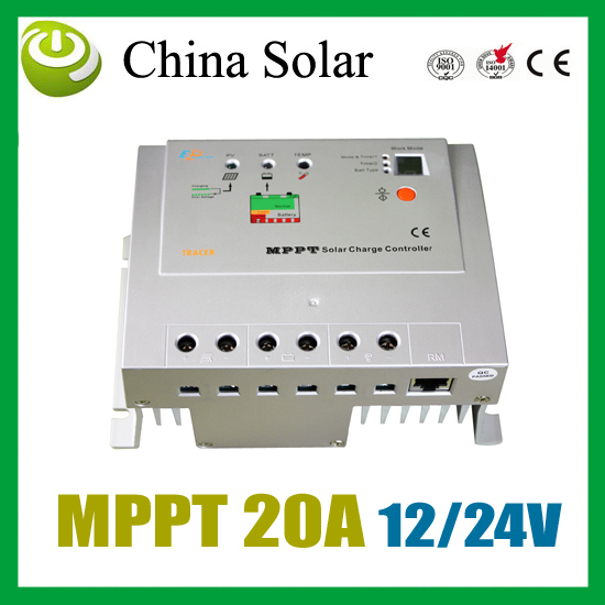 Tracer 2210 MPPT controller 12/24V auto work 20A  Auto Solar Panel Battery Charge Regulator( has been updated to 2210A)