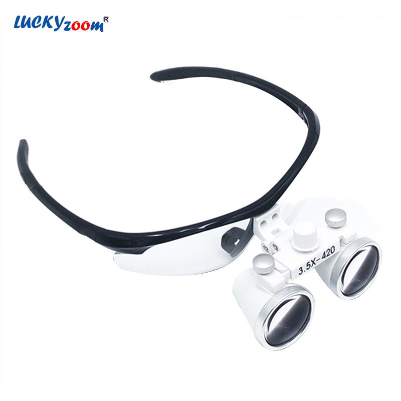 3.5X Magnification Surgical Medical Magnifier Antifogging Optical Glasses Dental Magnifying Glass Clinical Dentist Surgery Loupe цена 2017