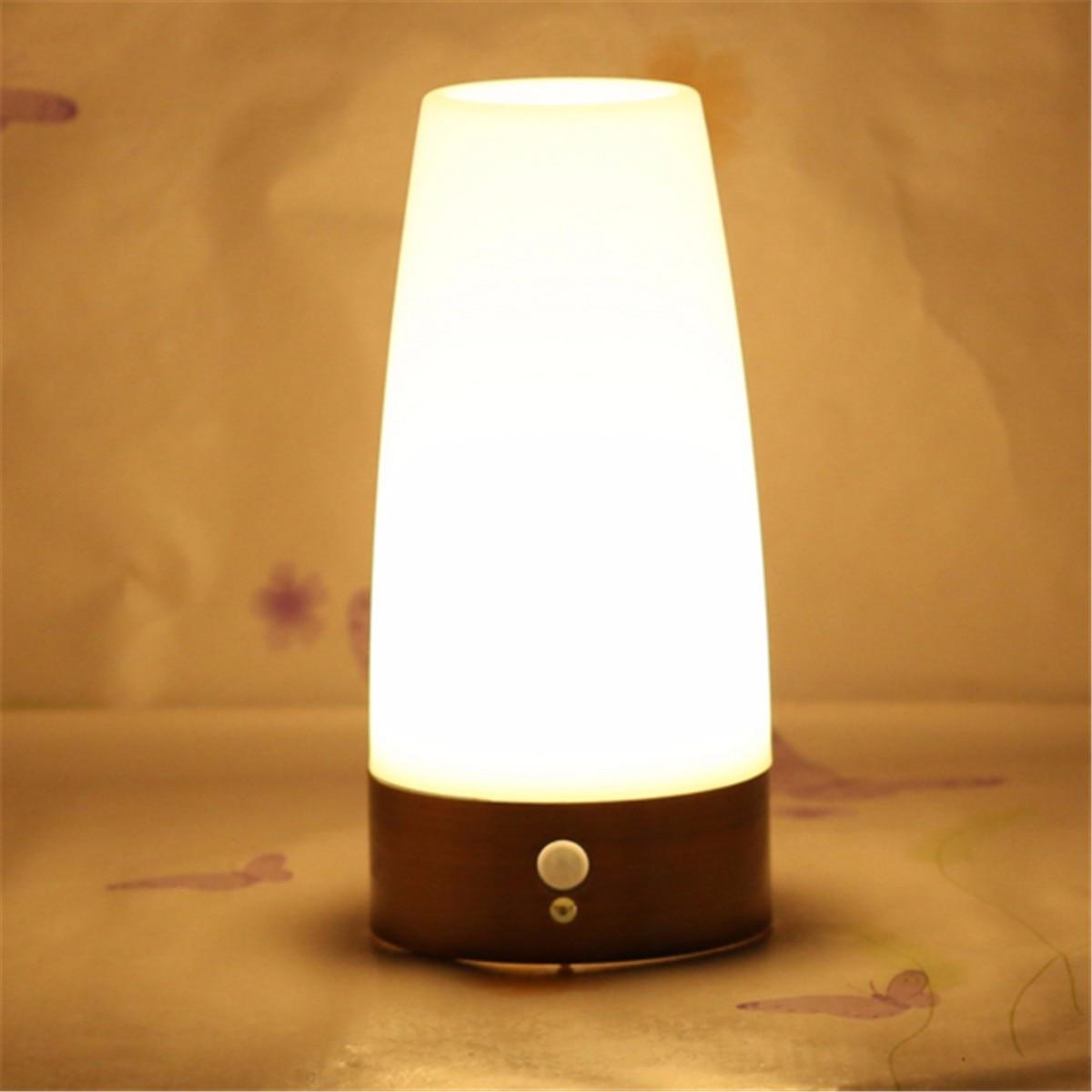 Jiguoor Wireless Led Night Light Table Bed Lamp Motion