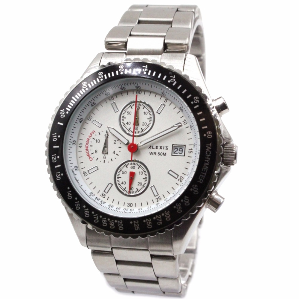 ice watch st rs s s 10 watch ALEXIS Chronograph Miyota 0S10 All Stainless Steel Men Watch SSW523B with Gifts Box