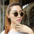 2017 new fashion mujeres ronda gafas de sol de diseñador de la marca de verano estilo cat de ojos gafas de sol uv400 oculos feminino