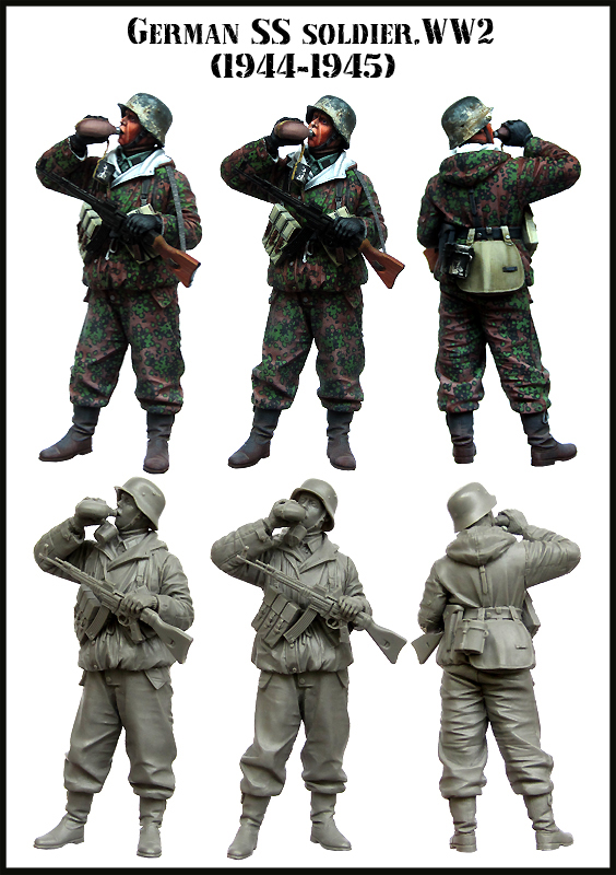 1:35    GERMAN SS SOLDIER.WW2