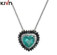 KIVN Fashion Jewelry Stunning Heart CZ Cubic Zirconia WomenS Girls Wedding Bridal Necklaces Christmas Promotion Birthday Gifts