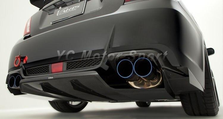 carbon fiber vs wide body ver style exhaust heat shield fit for 2008 2014 impreza wrx sti gvb exhaust heatshield car stying