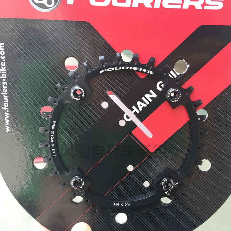 1pcs Black Fouriers Bicycle Single Chain Ring P.C.D 104mm 32T 4mm Bike Chainrings Narrow-wide Teeth 1pcs black fouriers bicycle single chain ring p c d 104mm 32t 4mm bike chainrings narrow wide teeth