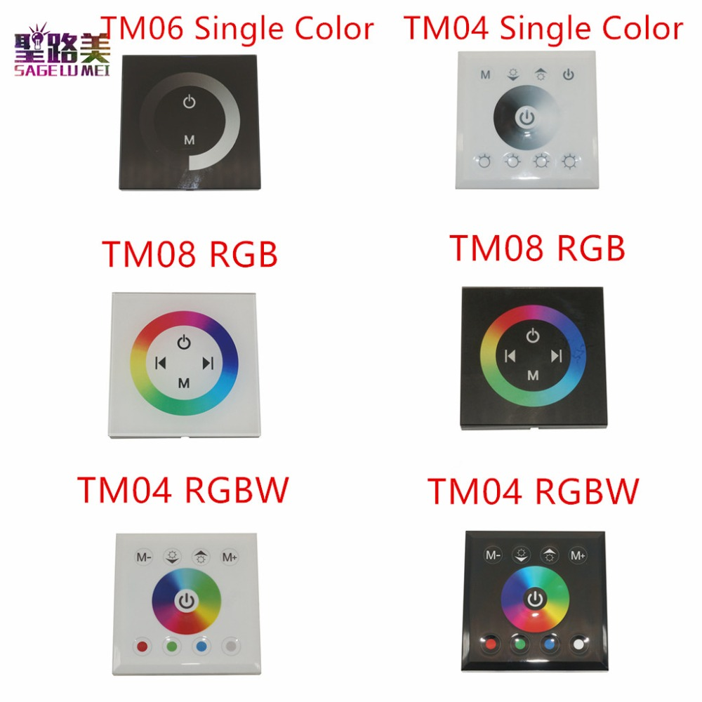 DC12V-24V RGB/RGBW enkele kleur wandmontage Touch Panel Controller glas panel dimmer Controller voor LED RGB Strips lamp
