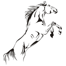 3D Horse Wall Stickers For Home Decor Living Room Creative Jumping Horse Wall Decal DIY Decorative Horse Wallpaper Easy Wall Art
