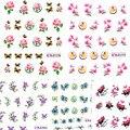 1 folhas de Moda de Beleza Da Arte Do Prego Flor Adesivos Transferência de Água Decalques Mulheres Extravagantes Unhas Ferramentas Da Arte Do Prego Brilho Dicas ND104