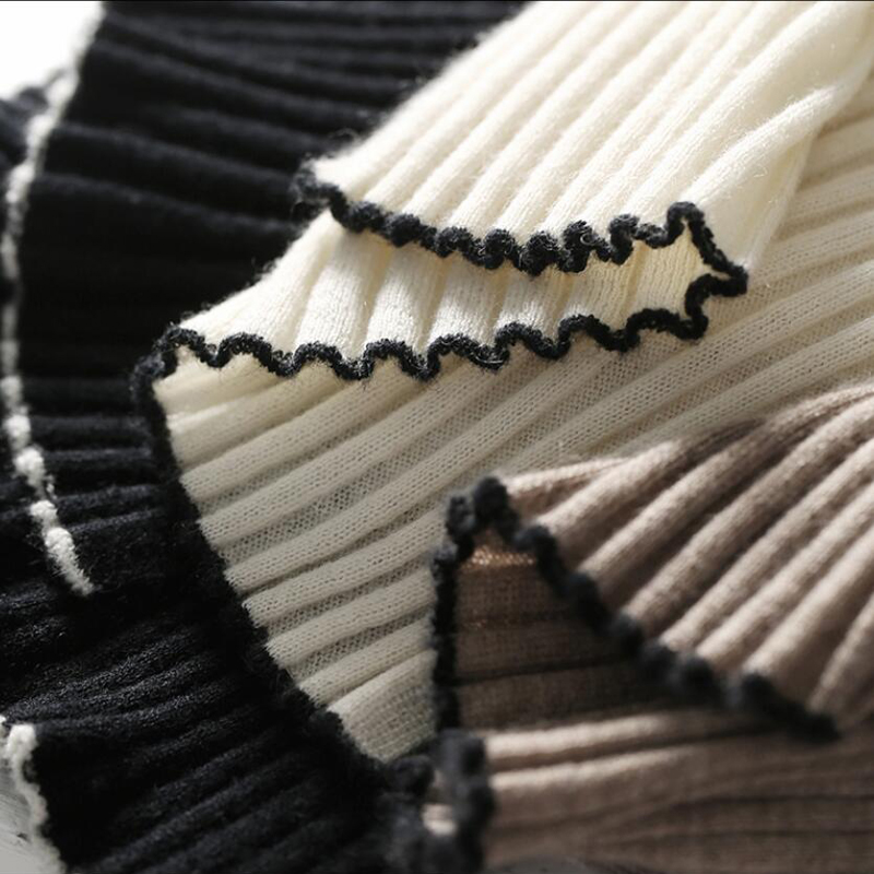 Femmes Naturel Haute Livraison Noir Noir Chandails Automne Qualité Pull Chameau Gratuite Chaud Blanc Cachemire 100 En Tissu De blanc Hiver qxwABfCS1