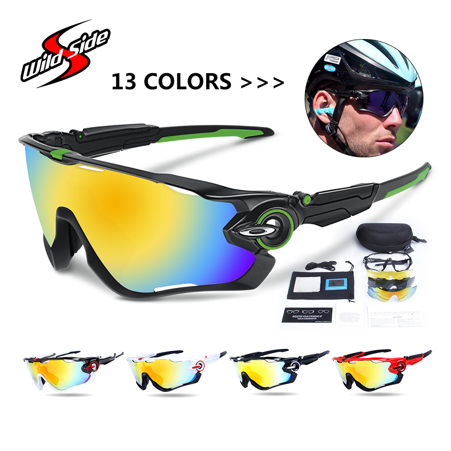 OBAOLAY Cycling Sport Sunglasses Polarized Mountain Bike Bicycle Goggles Unisex Cycling Sport Glasses Occhiali Ciclismo Eyewear pure copper magnetic suspension coil with 3mm screw hole