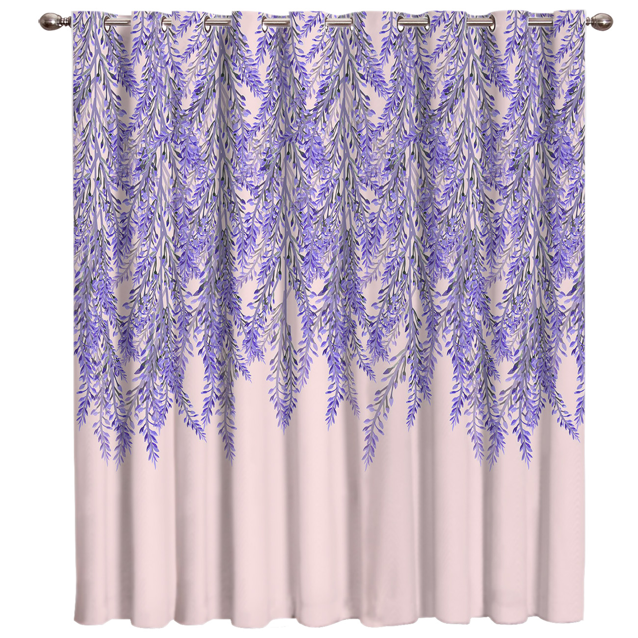 Lavender Island Flower Window Treatments Curtains Valance Living