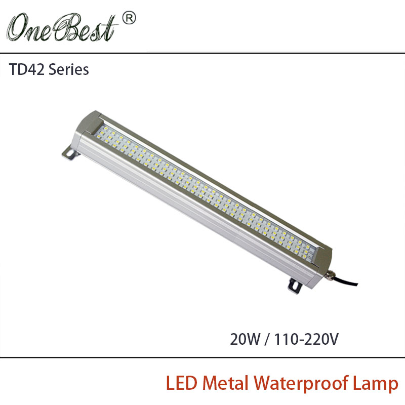 ФОТО HNTD TD42-20W 220V/110V Led Metal Panel Light CNC Machine Tool Waterproof Explosion-proof Led Astigmatism Led Work Light