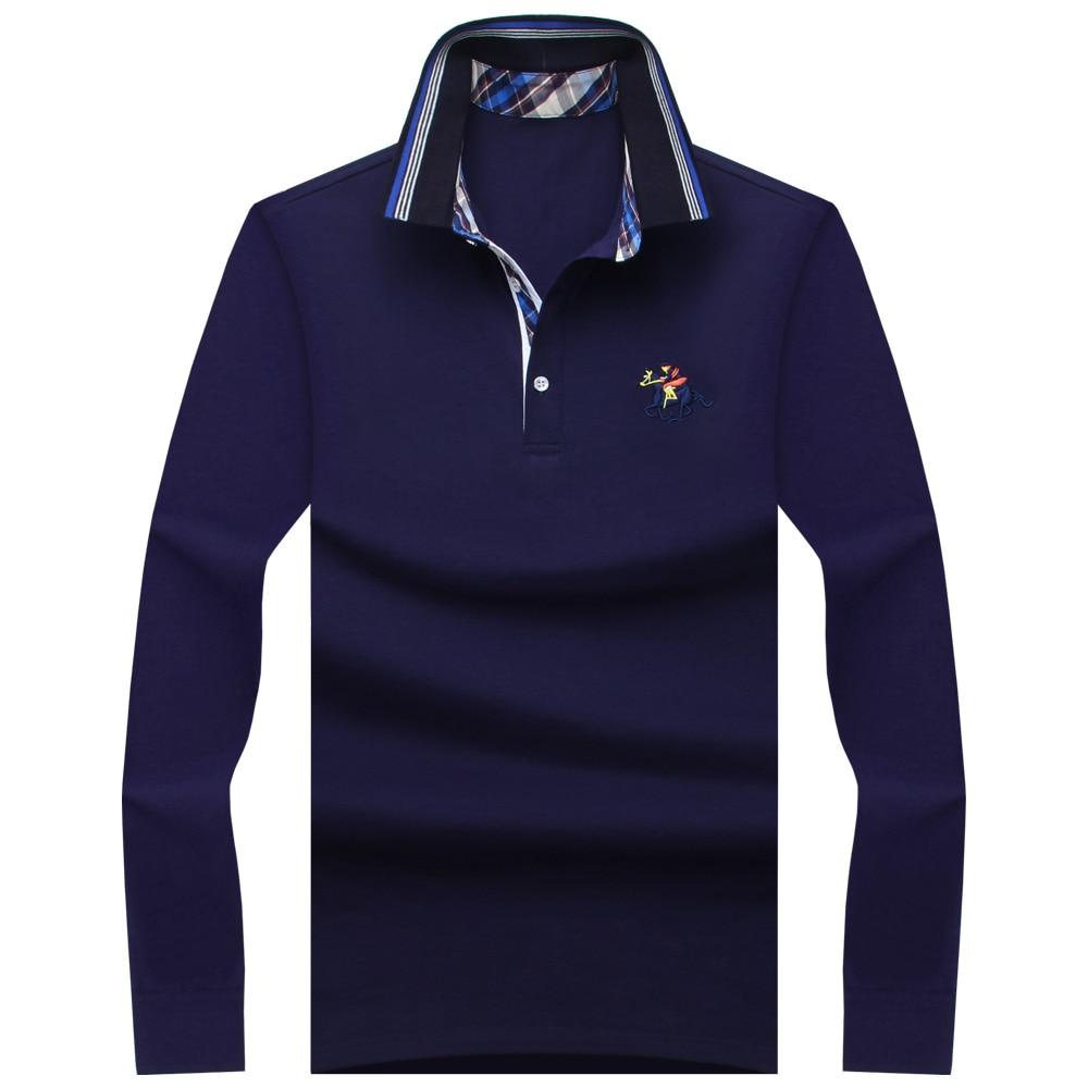 2018 nieuwe klassieke heren polo shirts lange mouw lente heren shirt merken camisa polo masculina plus size 6xl 7xl 8xl 9xl 10xl