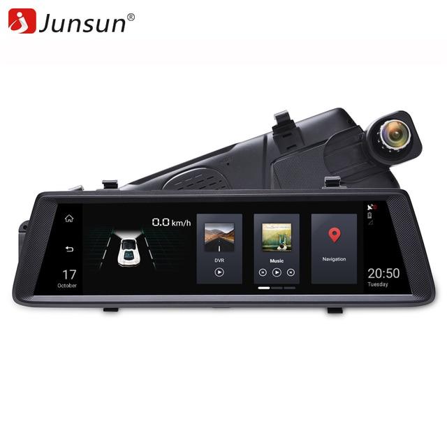 """Junsun 3g 10 """"Full Touch Wi Fi автомобильный dvr камера зеркало Android 5,0 gps навигации видео регистраторы двойной объектив регистратор регистраторы"""
