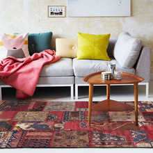 Home red full bedroom door bedside living room sofa kitchen bathroom floor carpet retro  Bohemian national wind anti-skid
