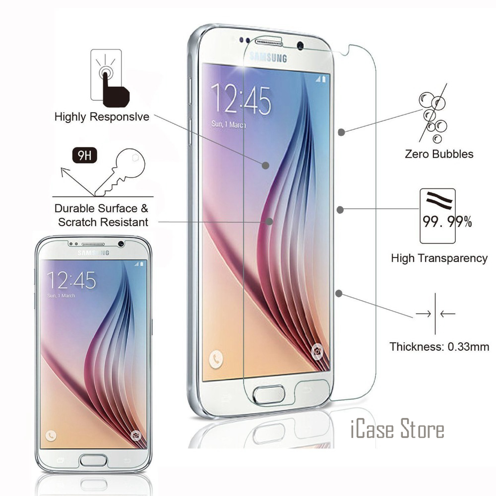 Tempered Glass Premium Screen Protector For Samsung Galaxy S3 S4 S5 S6 J2 Prime J3 J5 J7 2016 Grand Prime + Protective Film