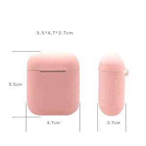 Image 2 - Cassa molle Del Silicone Auricolari per Apple Airpods Senza Fili di Bluetooth del Trasduttore Auricolare Coperchio Della Scatola di Protezione Della Pelle per Air Baccelli Orecchio Baccelli Borsa