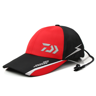 New Brand Dawa Daiwa Fishing Billion Men Cap Fishing Hats Sunscreen Breathable Mesh Cap Sunbonnet Baseball Hats Adjsutable Size