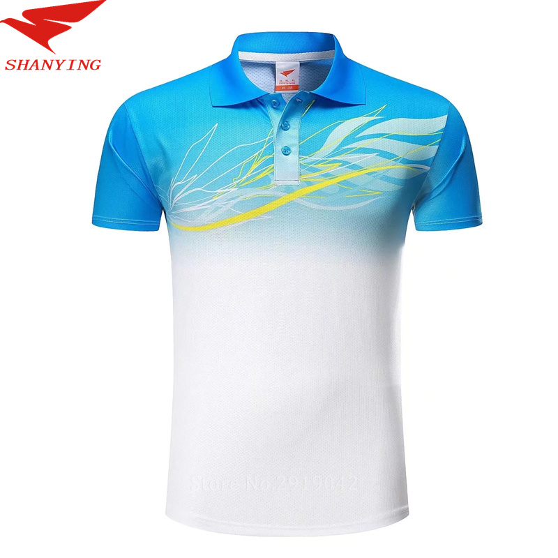 2017 sports polo shirt men golf shirt 100 polyester short for Men s polyester polo shirts