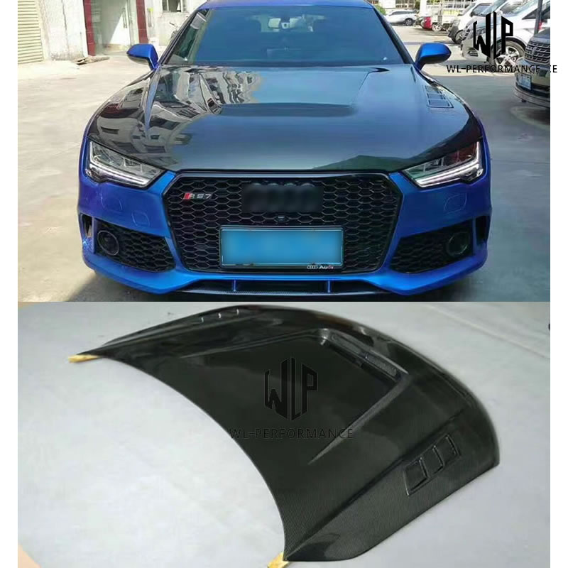 A7 RS7 High Quality Carbon Fiber Engine Hood Car Body Kit For Audi A7 RS7 Front Bumper 11-15
