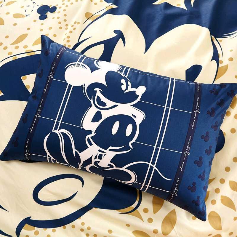 DISNEY Autentico Mickey Mouse Set di Biancheria Da Letto 100% Del Cotone Del Fumetto Set Copripiumino Letto Copriletto Coperture per Cuscini Per Bambini Biancheria Da Letto
