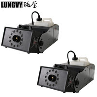 Free Shipping 2pcs Lot 180 Degree Adjusting 2000w RGB 3In1 Smoke Fog Machine DMX Control For