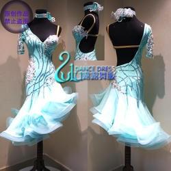 Латинское платье новейший стиль Сексуальная Латинская танцевальная одежда латинское танцевальное платье