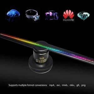 Image 3 - TBDSZ 3D WIFI Hologram reklam ekranı LED fan 42CM Holografik Görüntüleme Çıplak Göz led projektör Reklam Oyuncu Makinesi