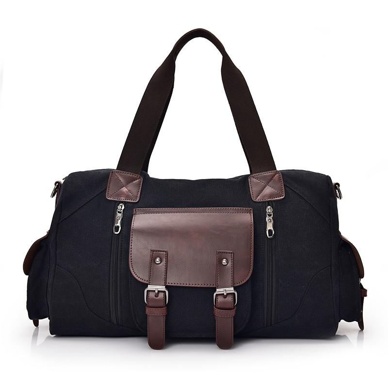 Famous Brand Men Vintage Canvas Men Travel Bags Women Weekend Carry On Luggage & Bags Leisure Duffle Bag Large Capacity Handbags (5)