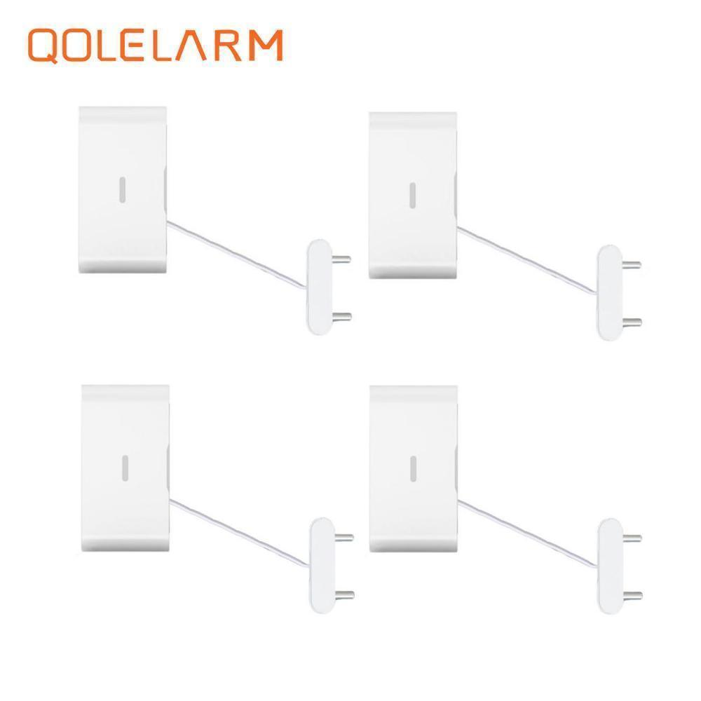 QOLELARM 433MHz wireless bathroom water leak detector leakage detection for wi-fi gsm alarm system smart home with battery wireless vibration break breakage glass sensor detector 433mhz for alarm system