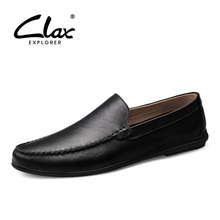 CLAX Men's Moccasins 2019 Summer Man Leather Shoes Slipons M