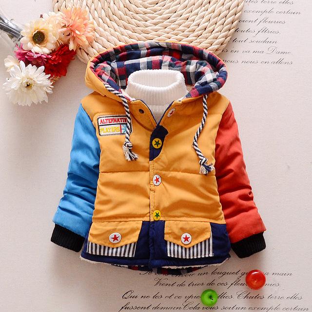$ Number $ number meses Recién Nacido Bebé Otoño Invierno ropa de abrigo chaqueta abrigo de Invierno chaqueta de los niños del niño del muchacho del bebé abrigo de invierno traje para la nieve