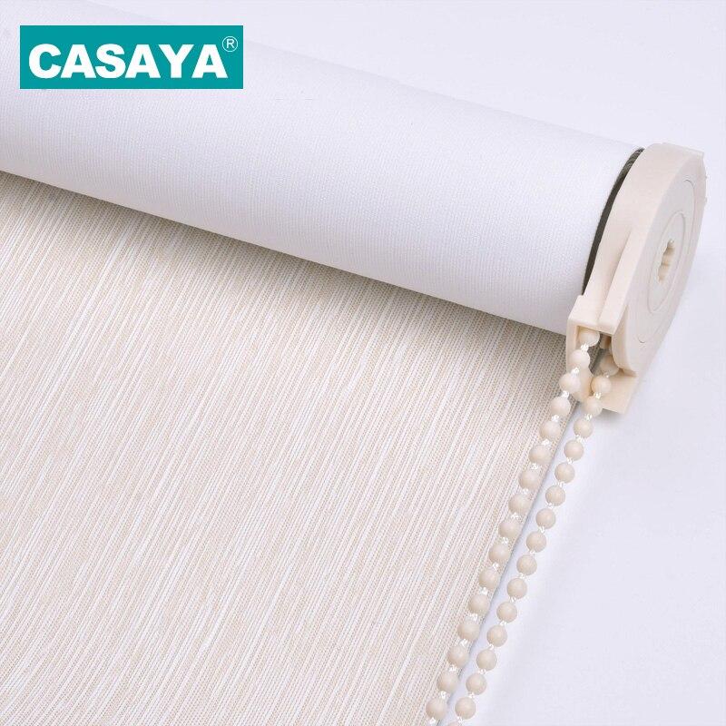 CASAYA High Quality Foamed Fabric Blackout Roller Blinds 99% Reflection UV Light Sun Shade Roller Shutters Bedroom Living Room
