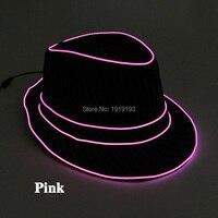 DC3V Jazz Dancer Favors EL Wire Glowing Streak Gentleman Cap Attractive Crazy Led Strip Neon Top