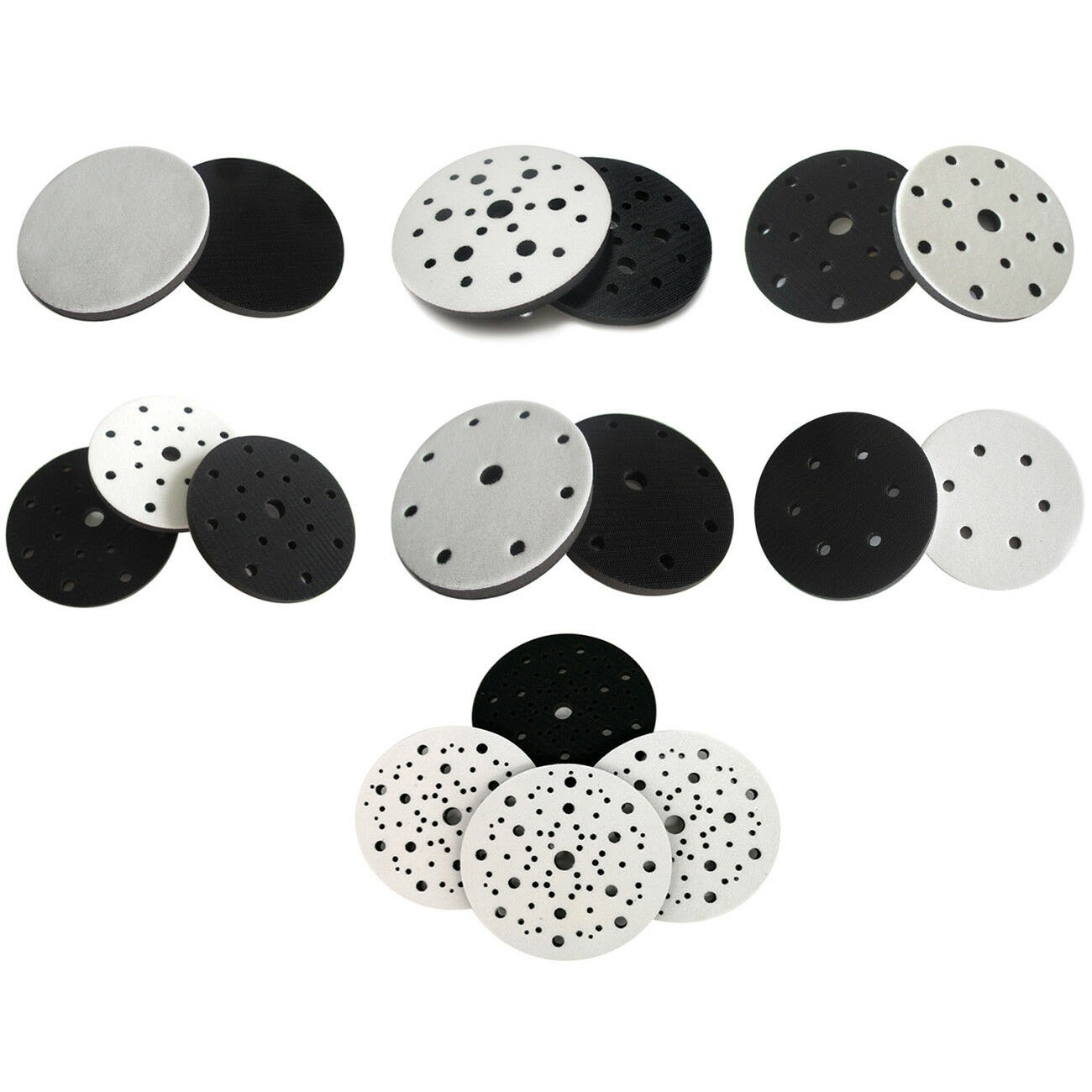 1/3/5Pcs 6 Inch 150mm Soft Sponge Interface Pad For Sanding Pads And Hook&Loop Sanding Discs For Uneven Surface Polishing