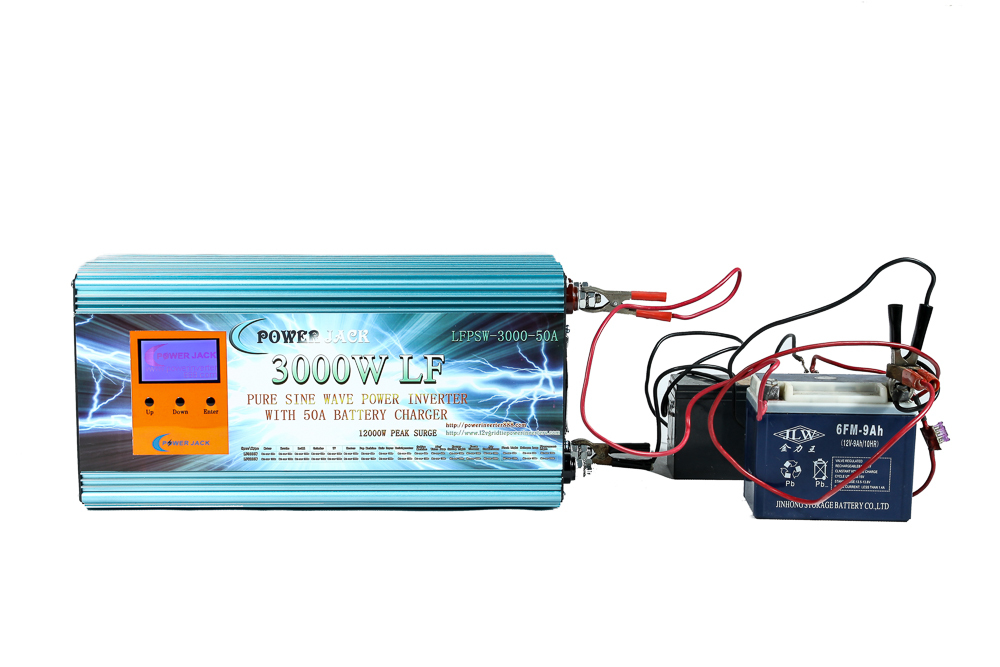 US $479 99  Low Frequency 3000W Pure Sine Wave Power Inverter DC 12V to AC  110V 60Hz /50A Battery Charger /LCD power meter-in Inverters & Converters