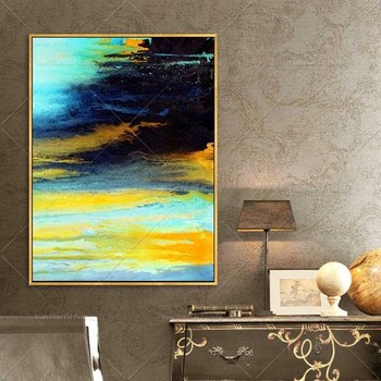New Style Bright Sky Painting Handpainted Oil Painting On Canvas Painting Wall Art Wall Pictures For Living Room Home Decor