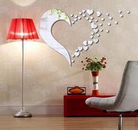 3D acryl spiegel wand decke wohnzimmer schlafsofa ornamente kombination liebe