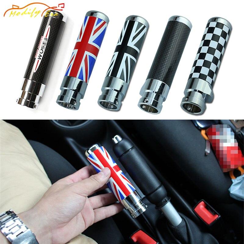 handbrake car modification Carbon Fiber Black Red Union Jack Checkered For BMW mini cooper clubman R55