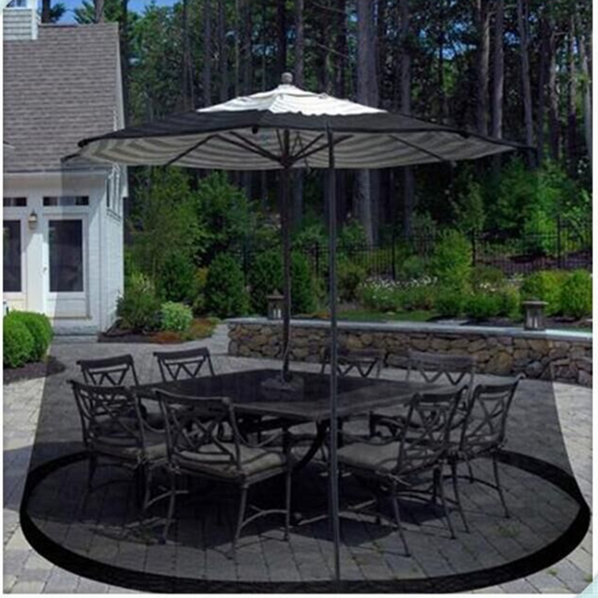 Polyester Yard Umbrella Screen Cover 335 220cm Mosquito Bug Insect Net Repellents Outdoor Patio Netting Garden Pest Control In From Home
