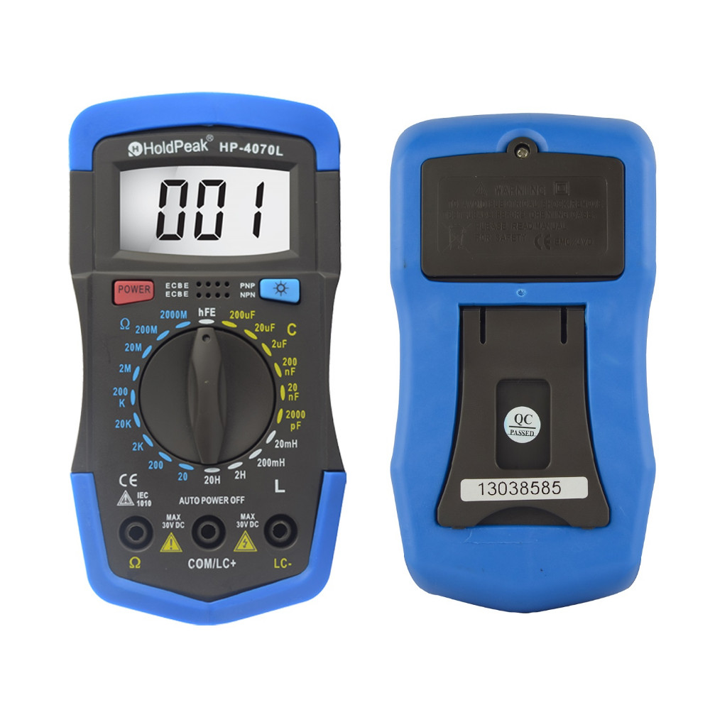 Digital Multimeter Resistance Tester Capacitance Meter Inductance Test LCR Meter hFE Tester with Back Light hyelec ms89 2000 counts lcr meter ammeter multitester multifunction digital multimeter tester backlight capacitance inductance page 5